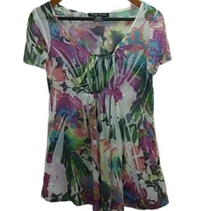 SIMPLY IRRESISTIBLE Floral Short Sleeve Blouse